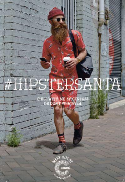 hipstersanta christmas hashtag campaign