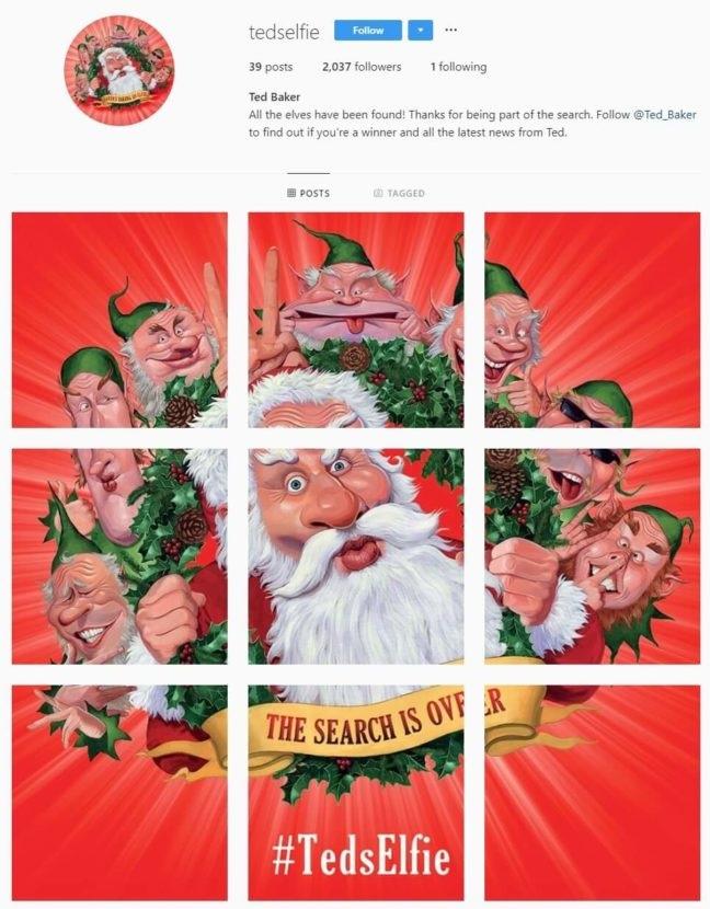 #TedsElfie Social Media Christmas Campaign