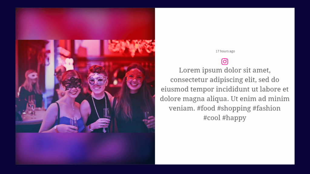 Instagram wall for events
