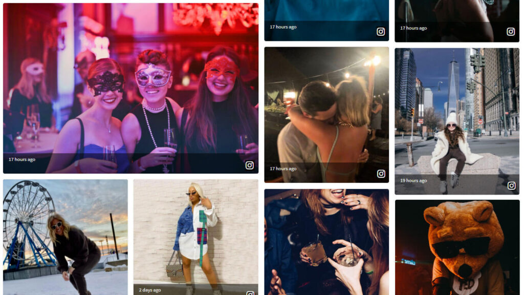 Live-Instagram-wall-Onstipe-social-wall