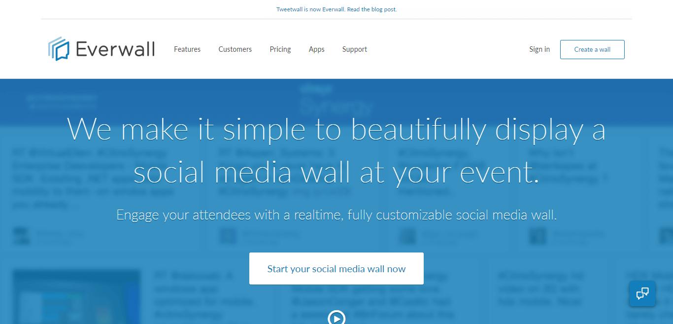 The original social media wall, since 2008 — Everwall