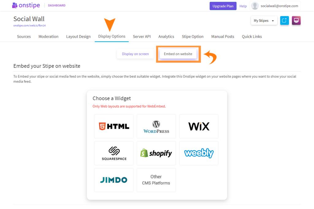 Choose-Embed-On-website