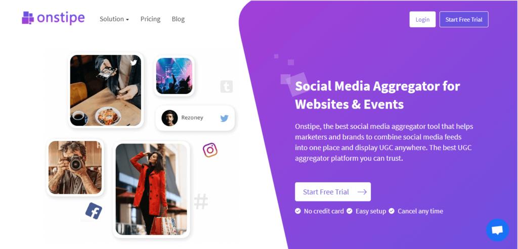 Onstipe - Best Social Media Wall