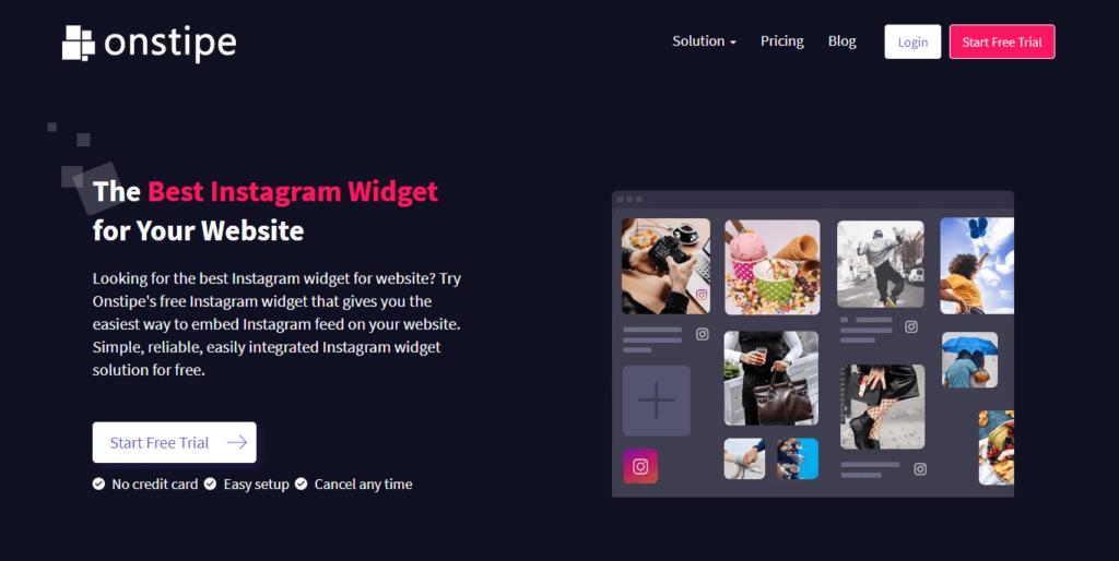 Best-Instagram-Widget-for-Website---Onstipe