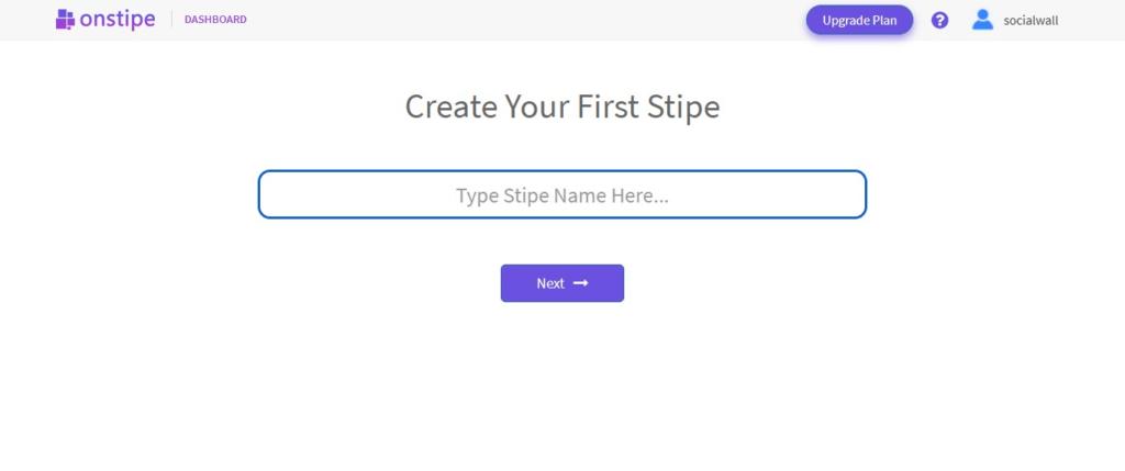 Create stipe - Onstipe
