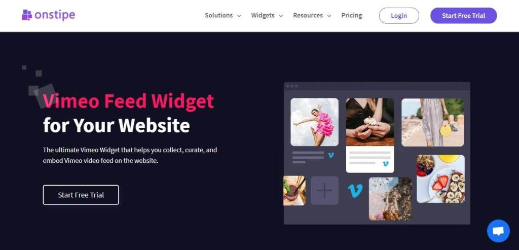 Best Vimeo Widget for Website