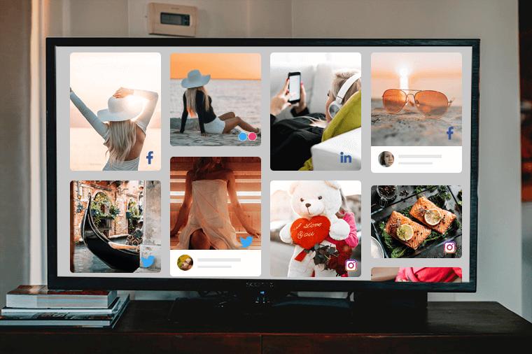 Display social media feeds on Smart TV