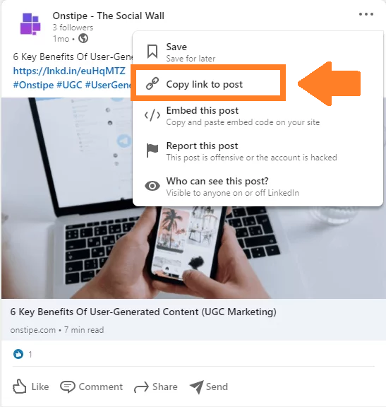 LinkedIn Post URL