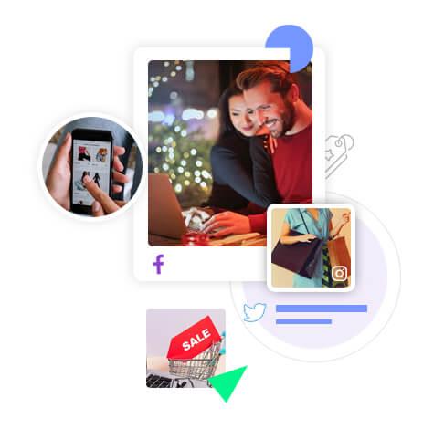 Shoppable social media feeds