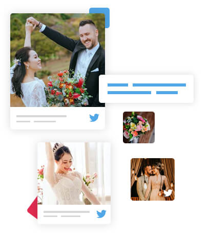 Twitter Wall for Wedding